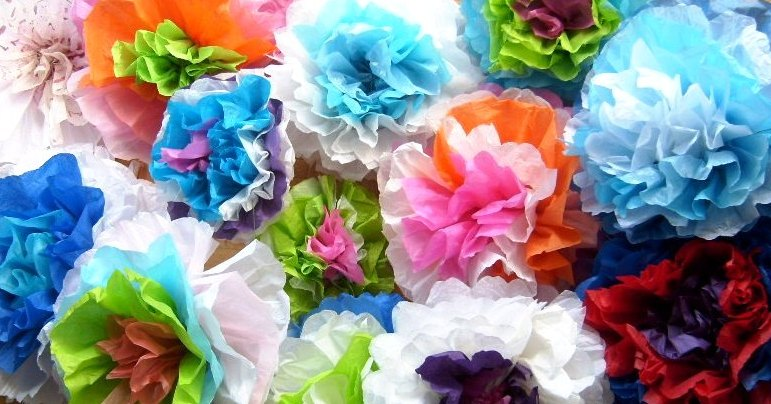 Green broke living in kits tissue paper flowers and its a great way to stash bust to borrow a saying from ravelry when your stockpile of used tissue paper reaches critical mass ie after a bridal mightylinksfo