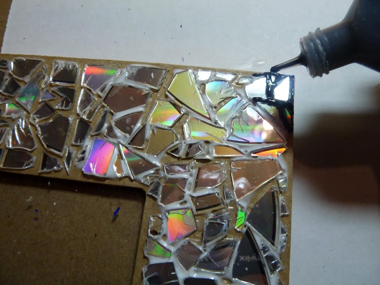 Плитка из дисков своими руками