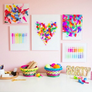 Turn craft supplies into wall art!