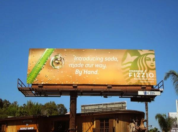 soda made by hand Starbucks Fizzio billboard