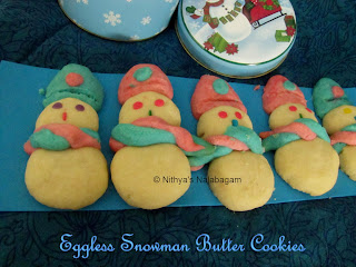 Egg less Snowman Butter Cookies