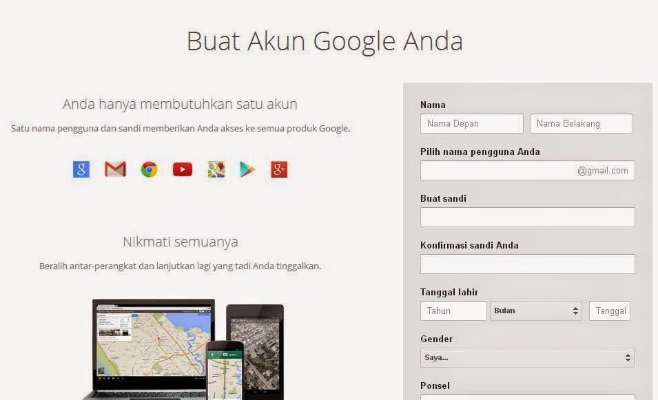 cara membuat email di gmail bahasa indonesia cara membuat