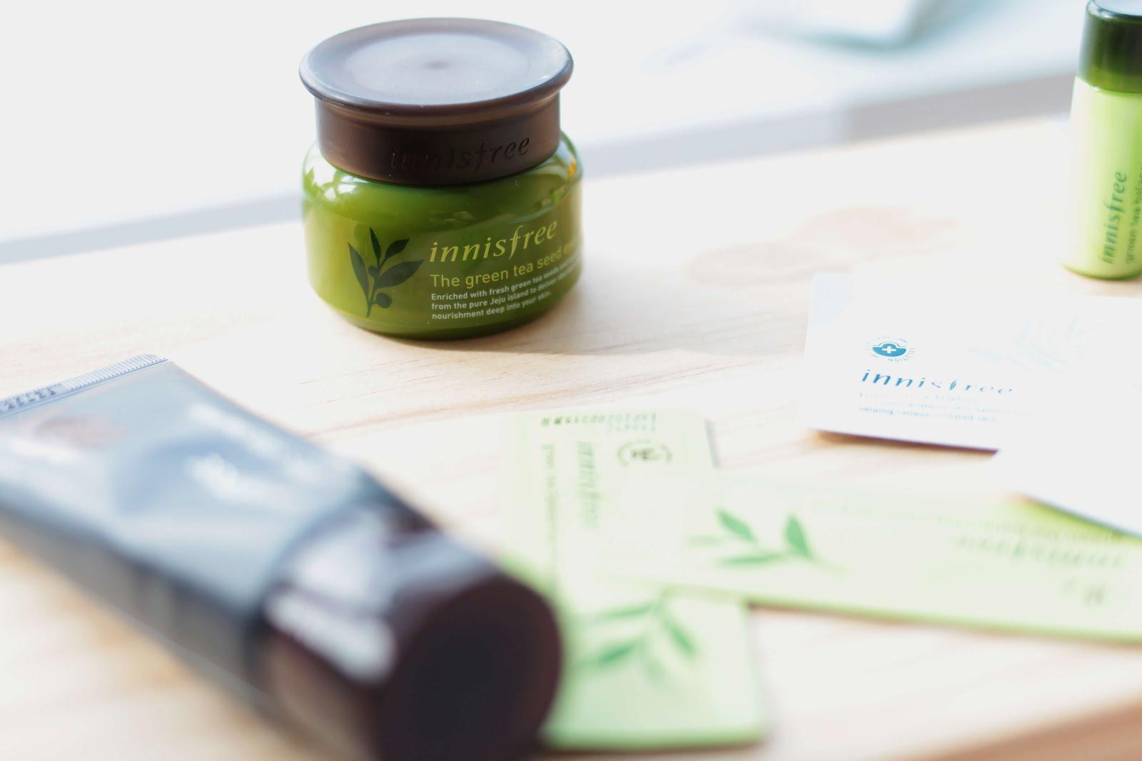 Collective Korean Skincare Haul Innisfree The Face Shop Cosrx Green Tea Seed Eye Cream