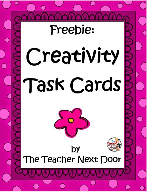 http://www.teacherspayteachers.com/Product/Creativity-Task-Cards-Freebie-1350758