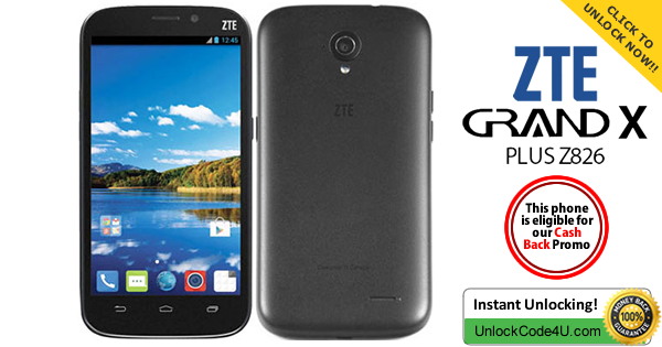 Factory Unlock Code for ZTE Grand X Plus