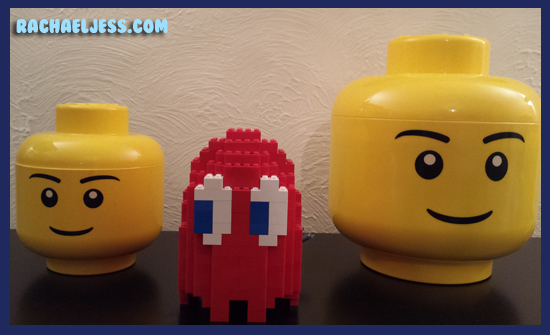 Someone needs to tell him those are Lego heads not Pac Man's cousins....