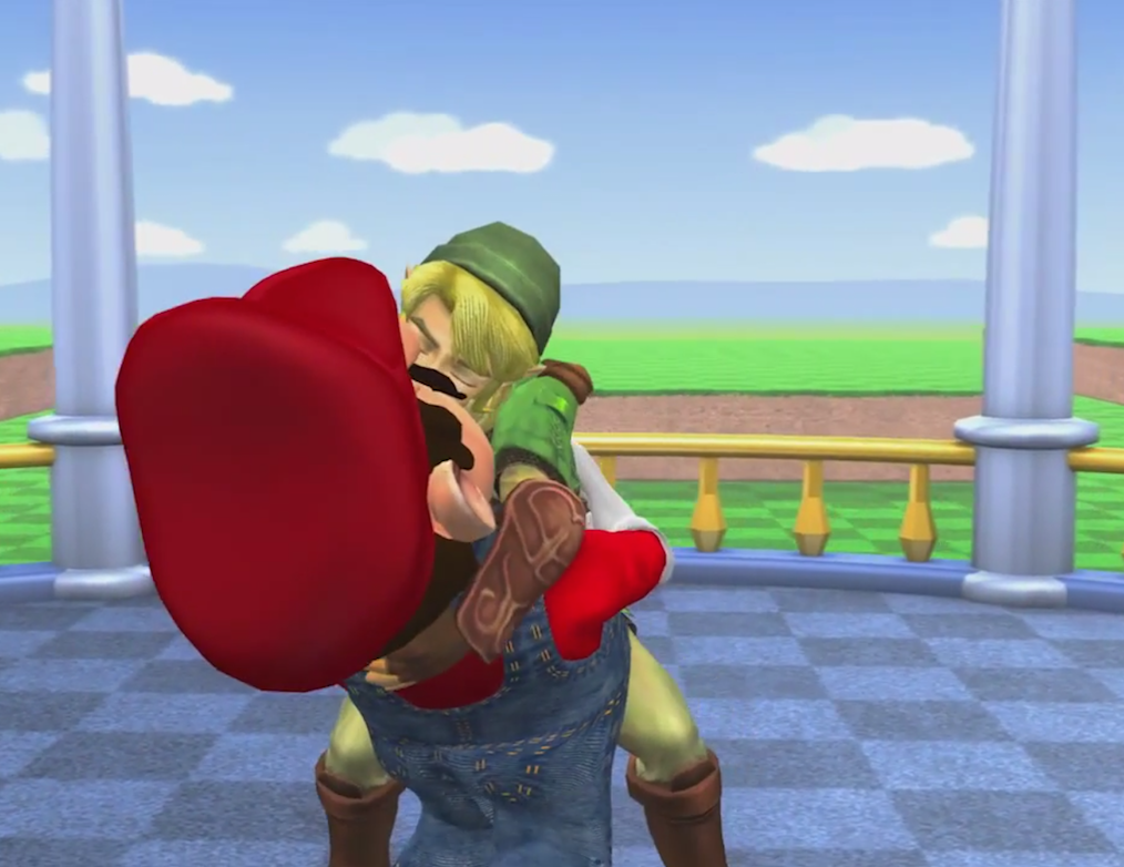 Mario and Link Gay Marriage Kiss