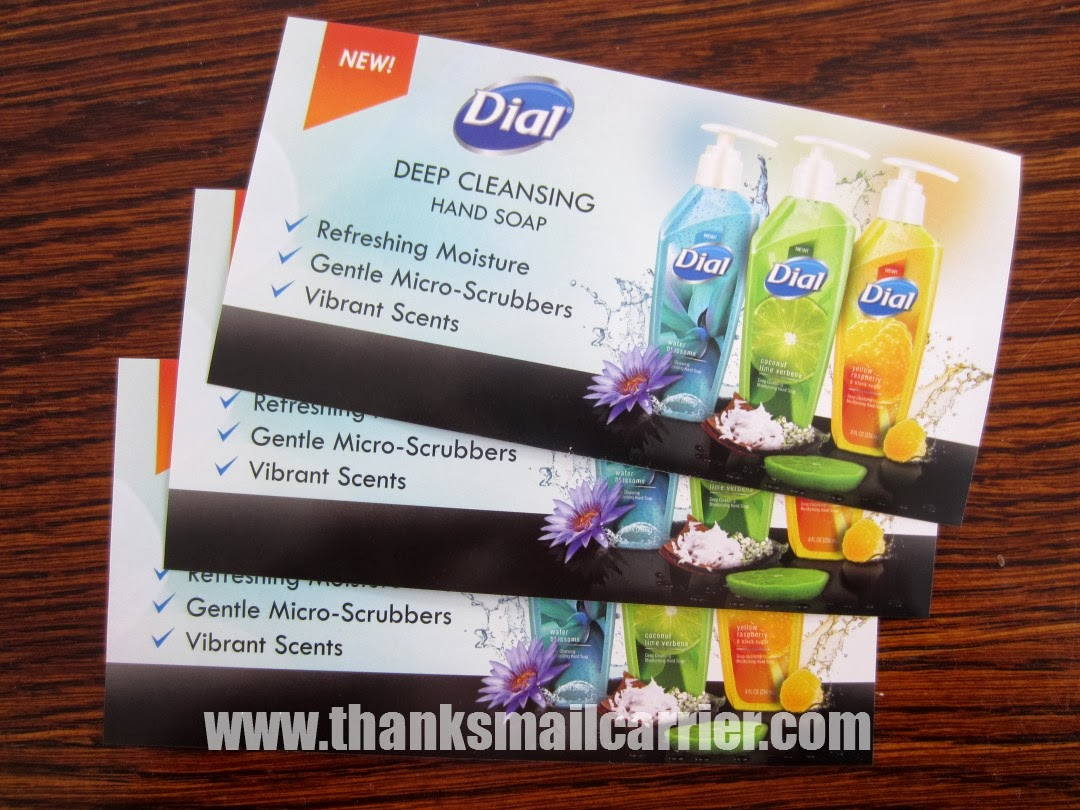 Dial soap coupons