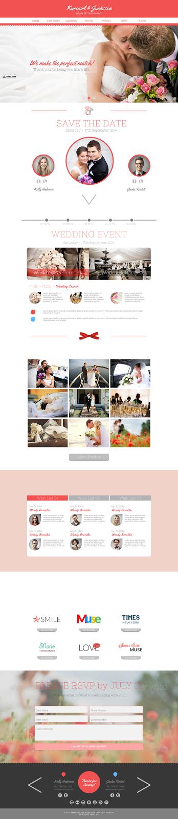 wedding website themeforest
