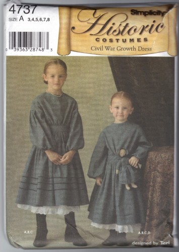 Time Traveling In Costume Little Girls Civil War Dresses