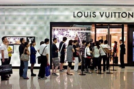 Vuitton boutique in Shanghai
