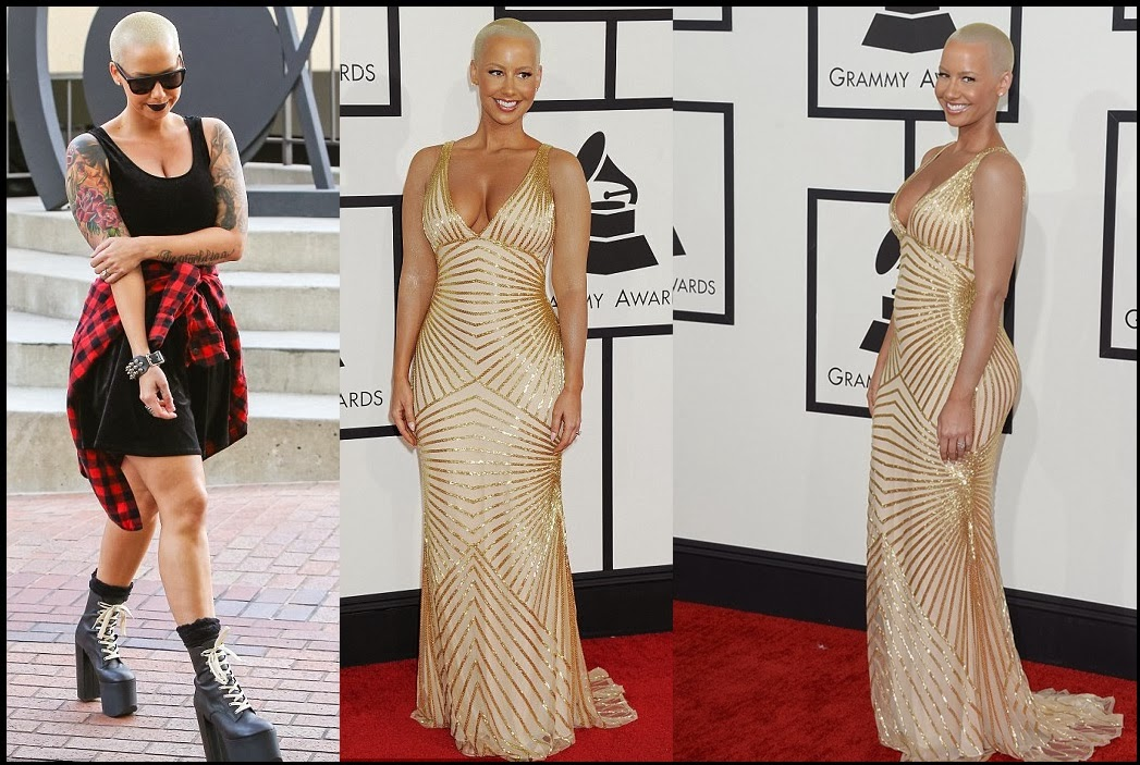 ... Ibie Blog: Photos:Amber Rose Covered Her Tattoos For The Grammys