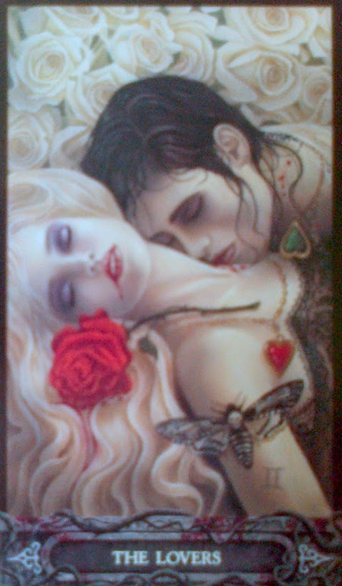 the lovers vampyre tarot