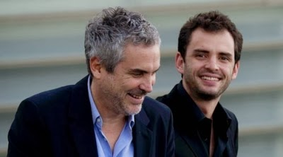 Father-Son screenwriters Alfonso Cuarón and Jonás Cuarón (GRAVITY)