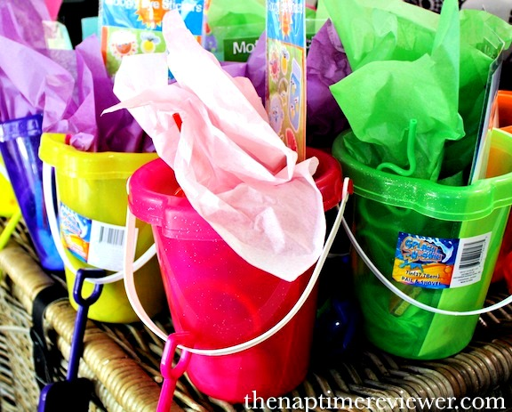 pool party favors beach buckets