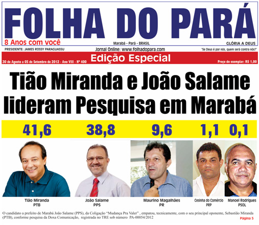 VEJA A NOVA EDIO DO FOLHA DO PAR