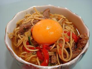 noodles ternera oriental especias