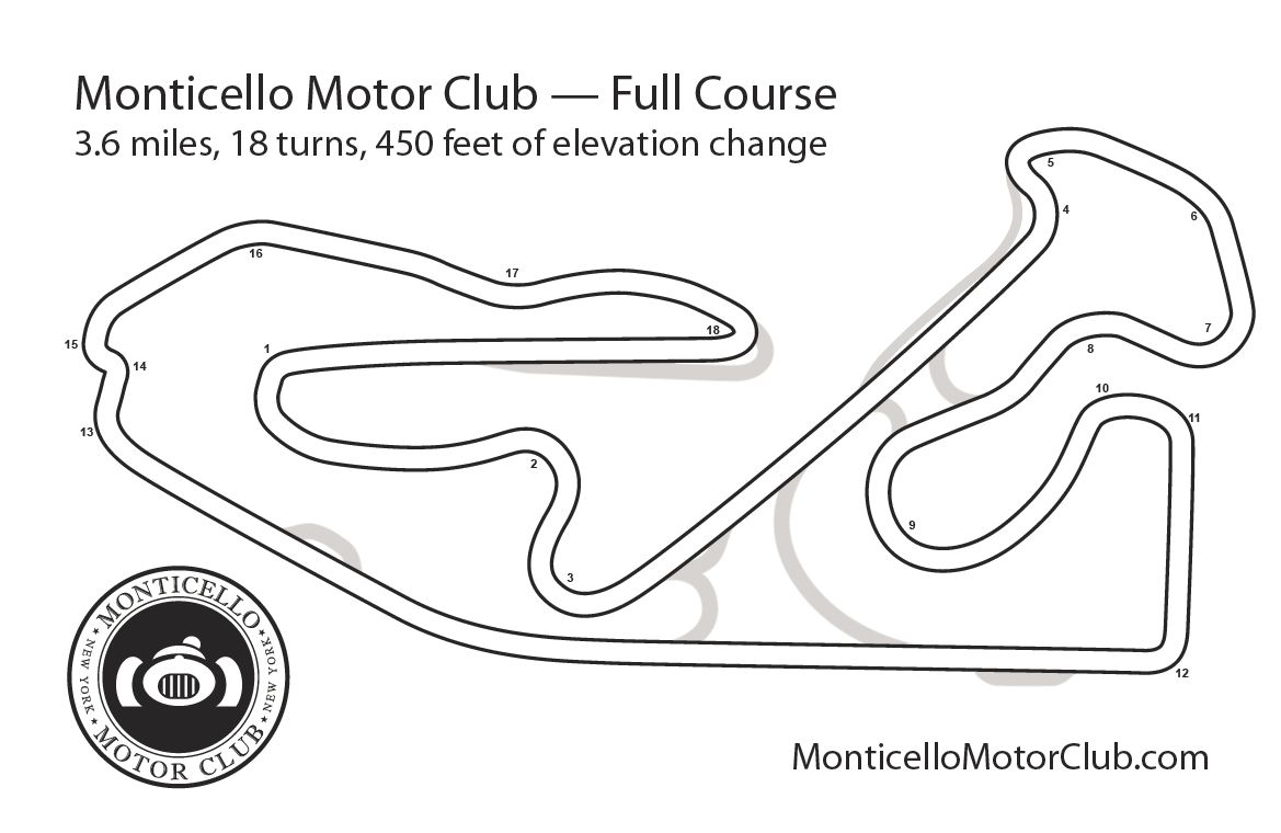 One hot lap onehotlap track review monticello motor club for Watkins motor lines tracking