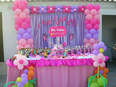 Children parties angelina ballerina for Decoracion fiesta cumpleanos nina