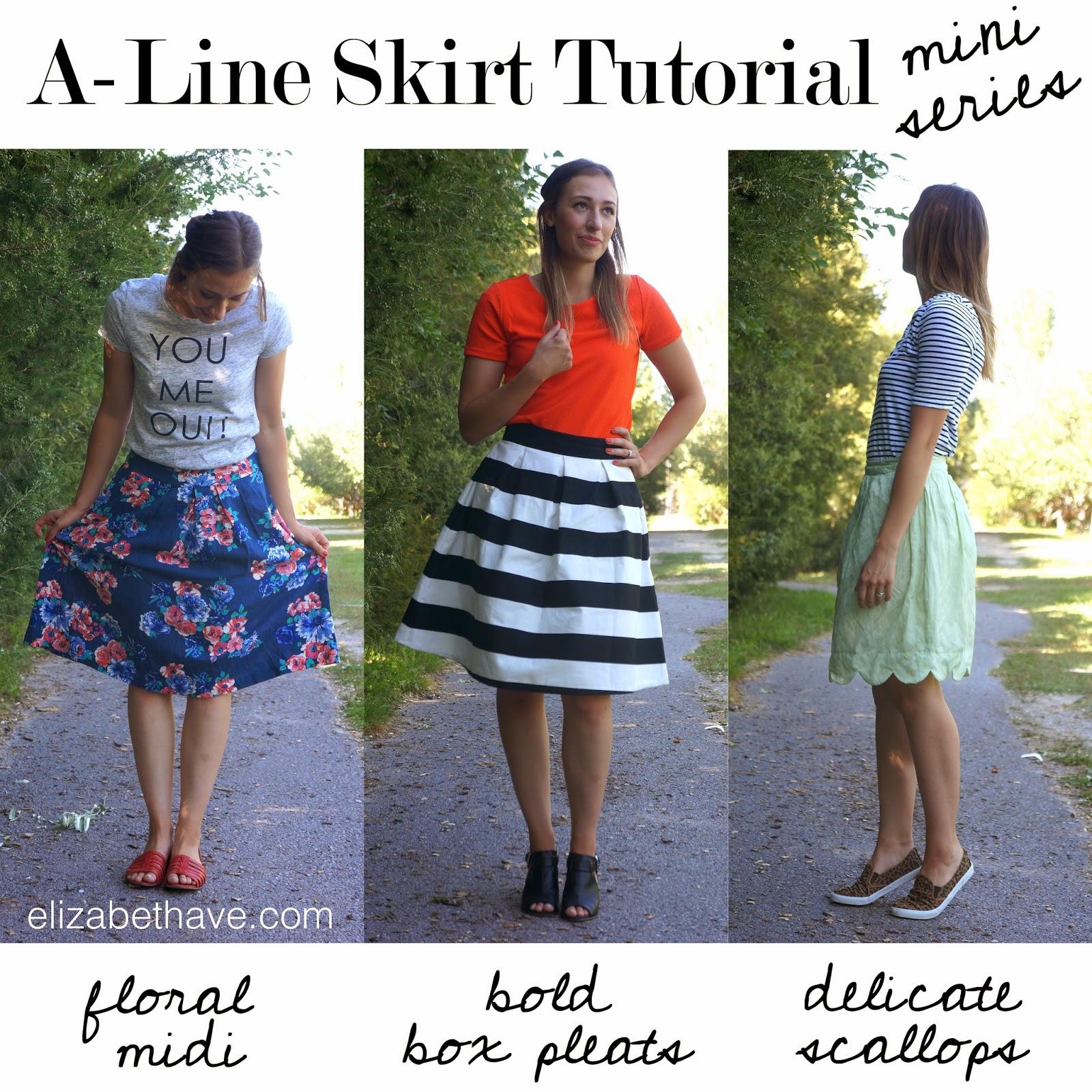 A-Line Skirt Series: Floral Midi Tutorial - Elizabeth Ave
