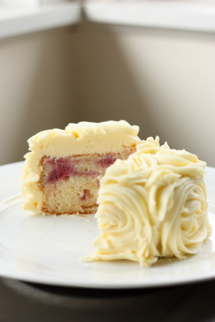 Raspberry And Yoghurt Cake With Cream Cheese Frosting