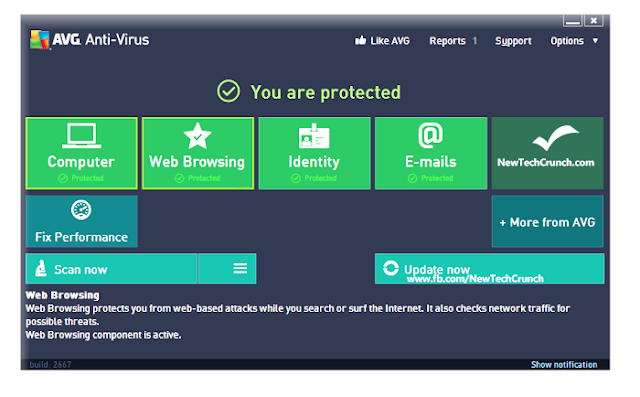 AVG Antivirus 2013 Pro - Interface