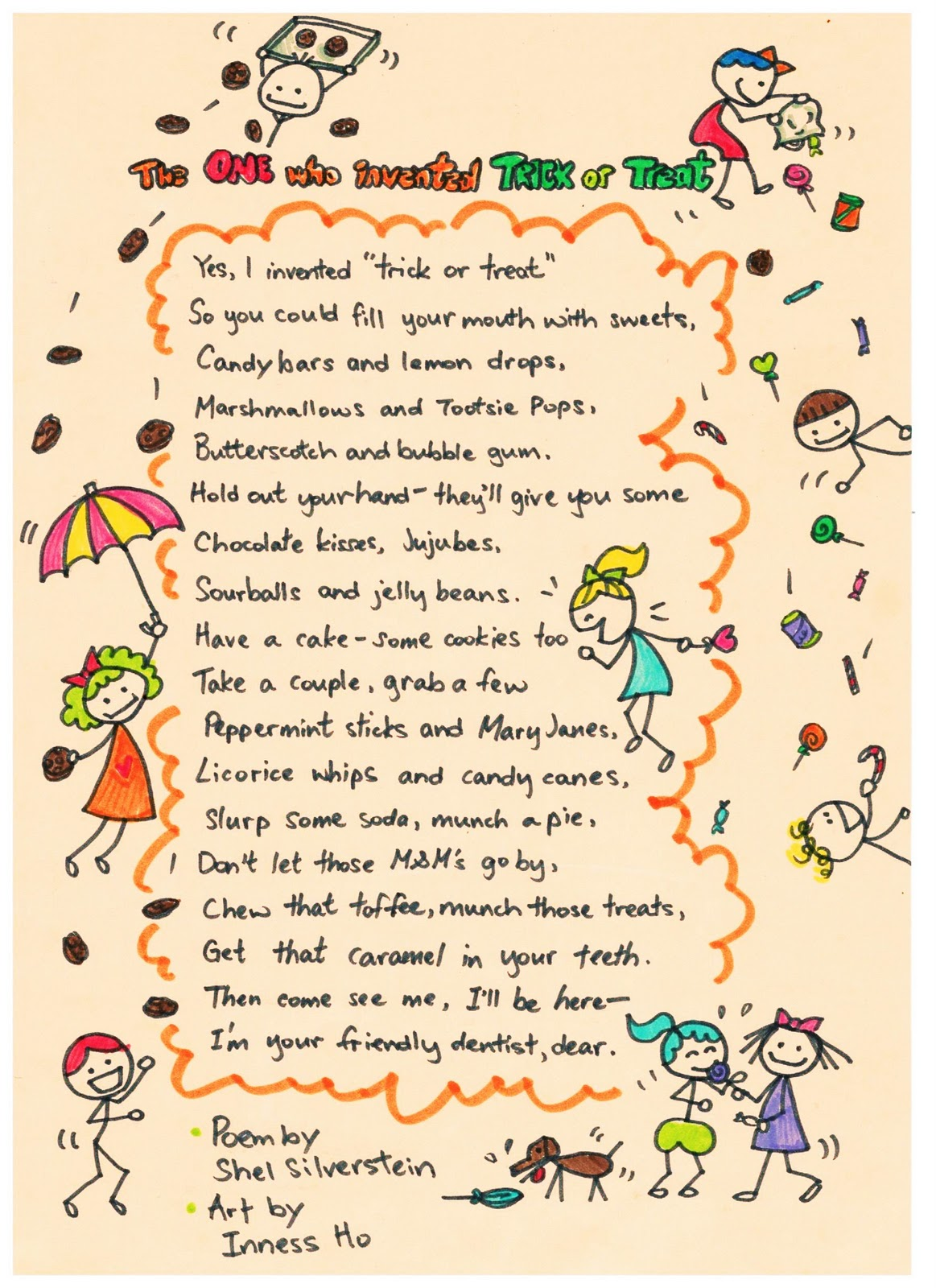 Halloween Trick Or Treat Poems The one who invented trick or treat by ...