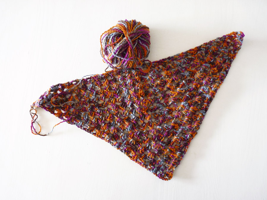Crocheting the granny triangle shawl it s fun quick definitely an