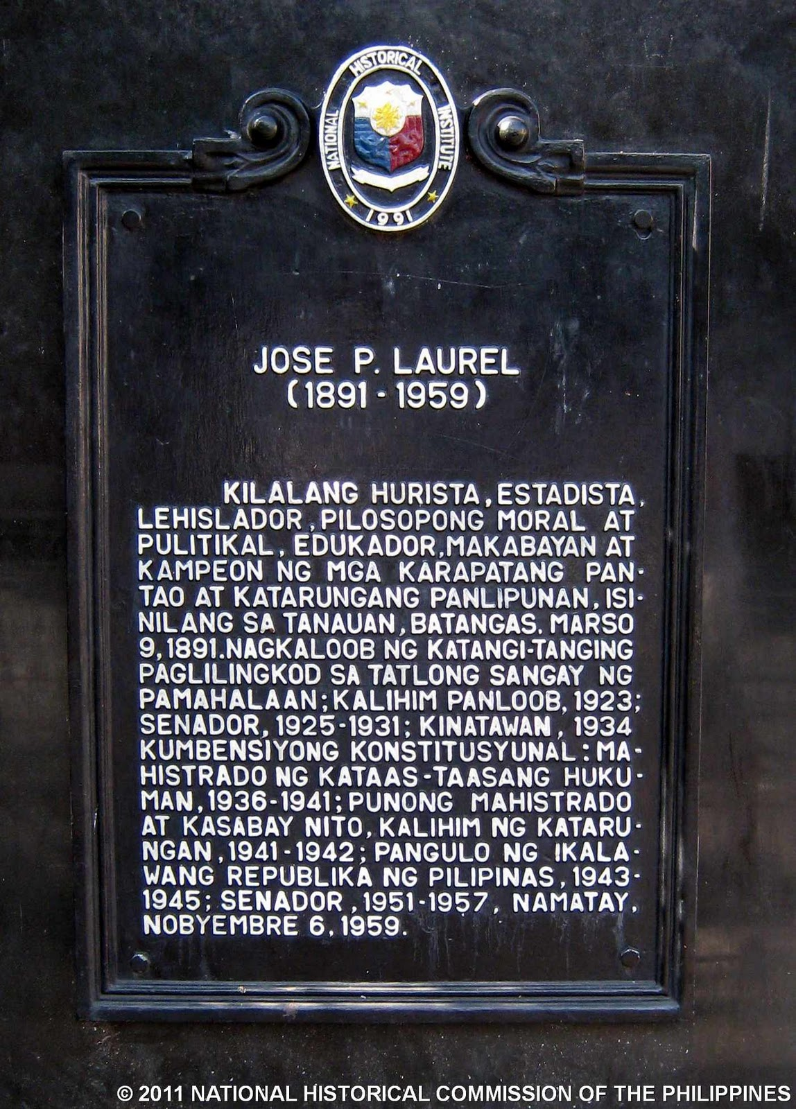 essay by jose p.laurel The following essay was written by dr ricardo t jose and was published as the  afterword in his excellency jose p laurel, president of the.