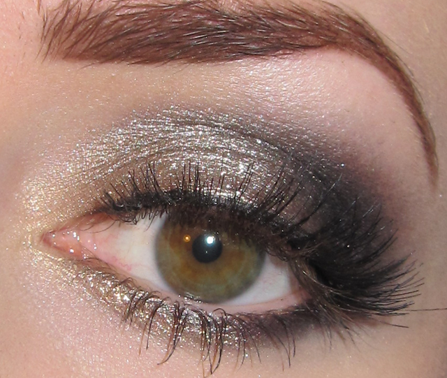 Glitter Is My Crack Gold Champagne And Black Eye Makeup Tutorial