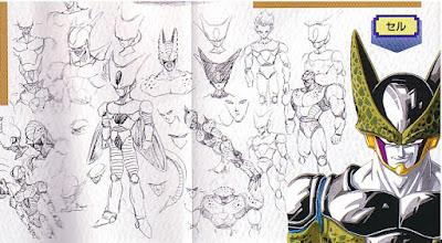 Desain Gambar Sketsa Karakter Dragon Ball Z