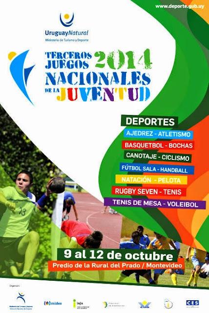 Juegos nacionales de la juventud (Prado, Montevideo; 09a12/oct/2014)