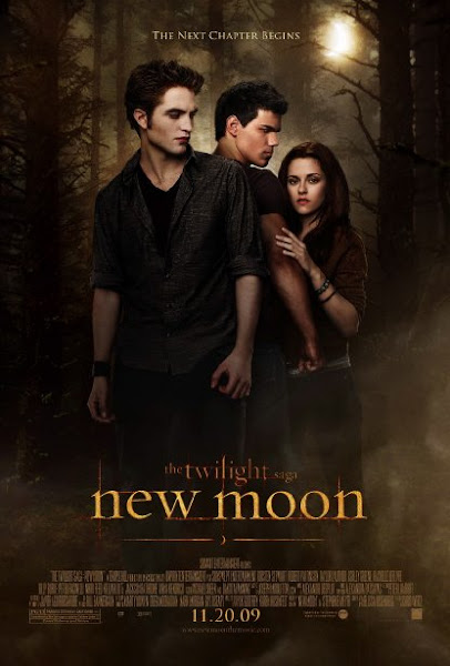 Poster Of The Twilight Saga New Moon 2009 720p Hindi BRRip Dual Audio