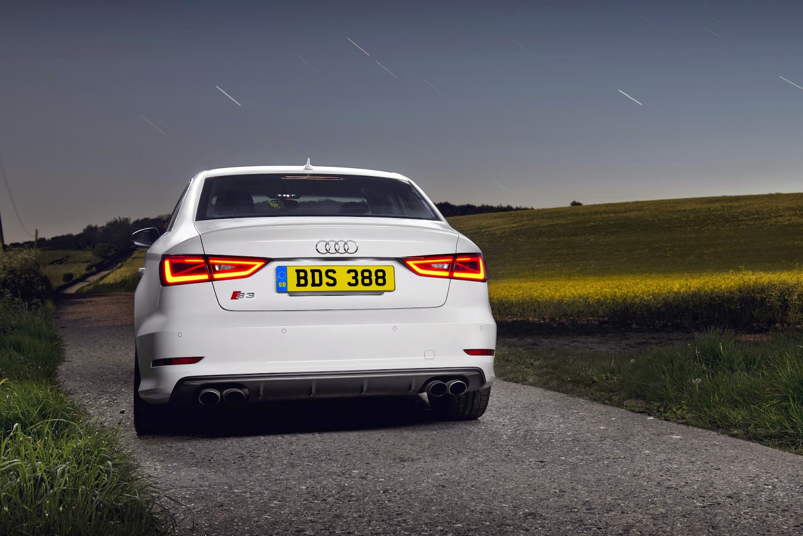 White Audi S3 Sedan