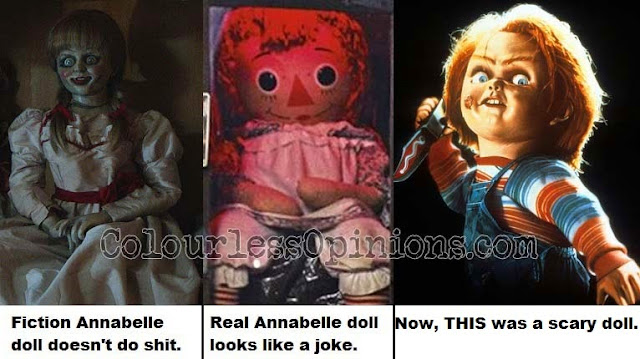 Conjuring Annabelle vs. Real Annabelle doll vs. Chucky