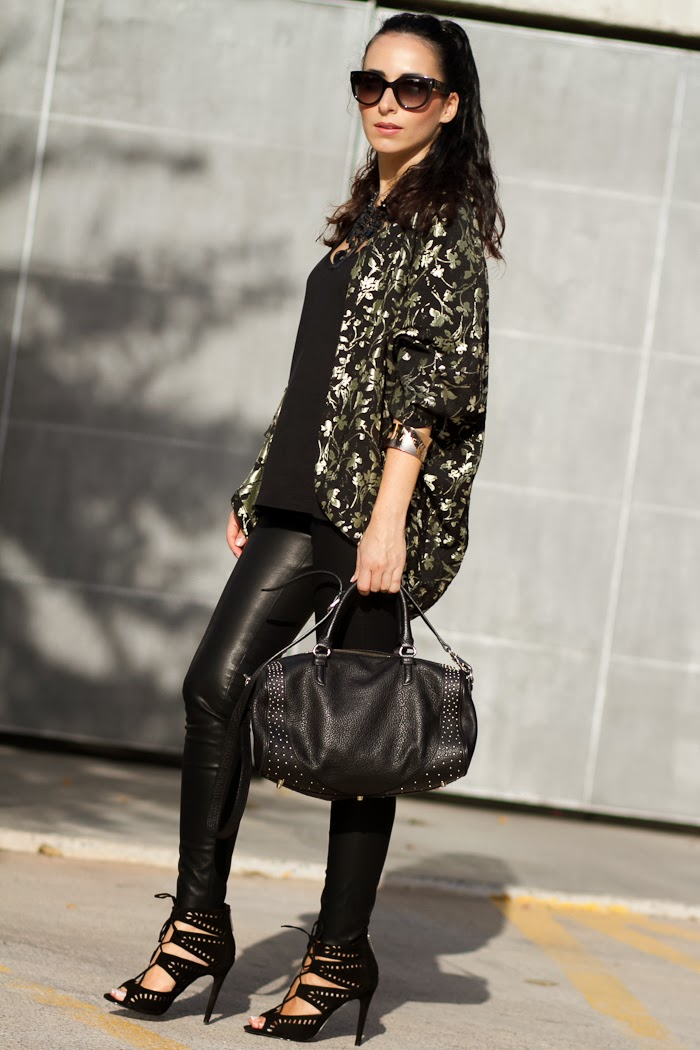 Streetstyle Total Black look