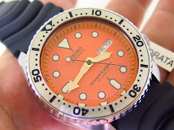 SEIKO DIVER SKX011J ORANGE DIAL - AUTOMATIC 7S26 - MINTS CONDITION WITH BONUS SS BEZEL