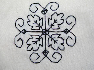 blackwork embroidery sample