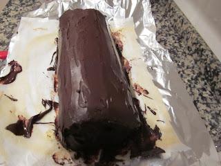 Foto donde nos presentan ya al bracito de gitano cubierto de chocolate.