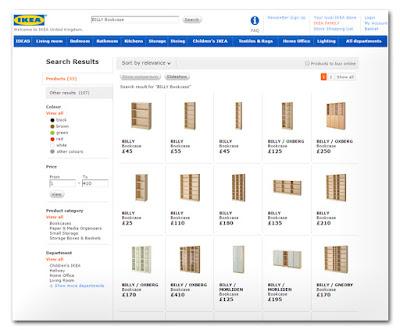 Ikea İngiltere web sitesi