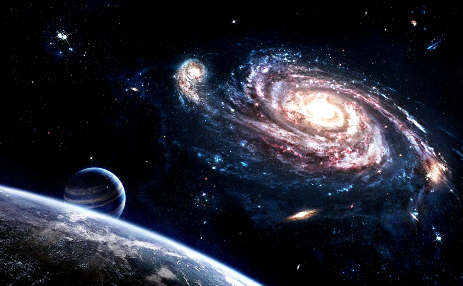 Pictures of Outer Space Planets and Galaxies