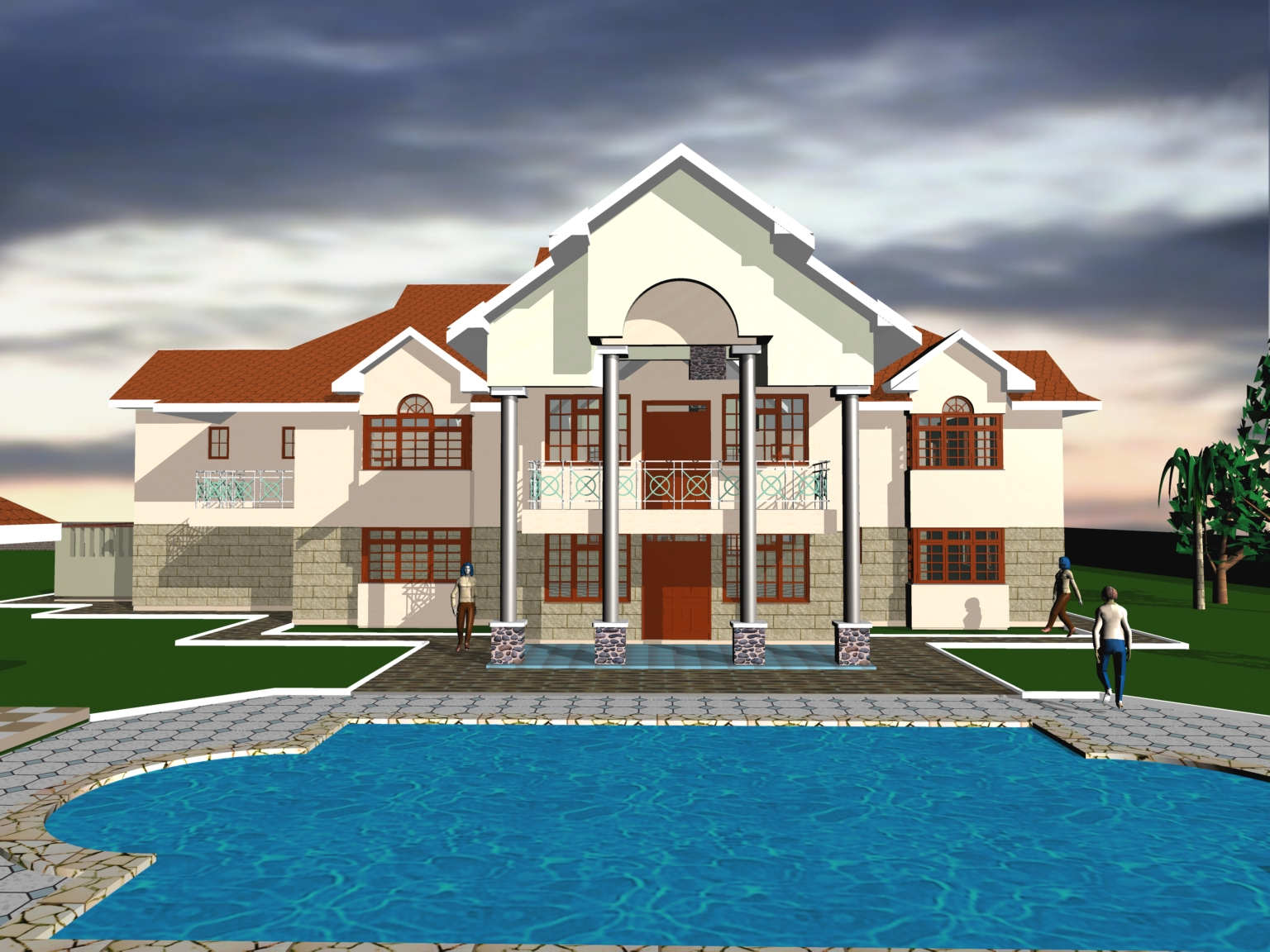 Residential house plans 3 dees designprime for 4 bedroom maisonette house plans kenya