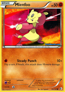 Mienfoo Boundaries Crossed Pokemon Card