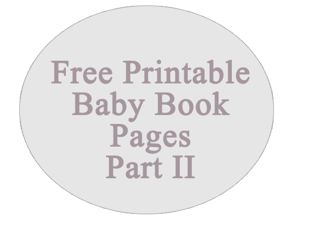 Printable Baby Book Pages About