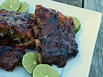 Crock Pot Maple Lime BBQ Ribs  on the menu for week of July 6th 2014   www.hunwhatsfordinner.com
