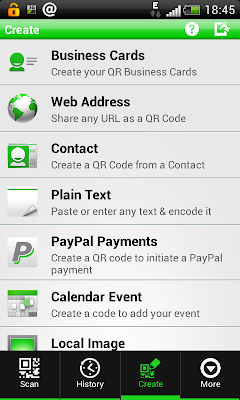 QR Droid: Create your own code