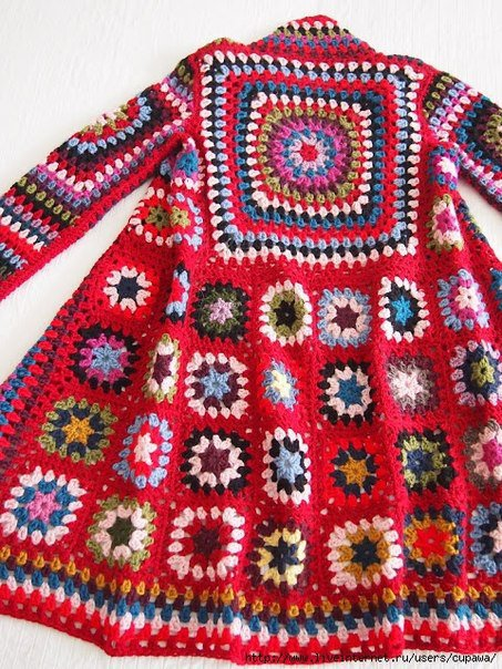 Crochet Patterns to Try: Granny Square Fall Coat Photo ...
