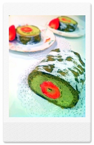Cherie Kelly's Matcha Green Tea Japanese Soufflé Roll Cake 抹茶ロールケーキ