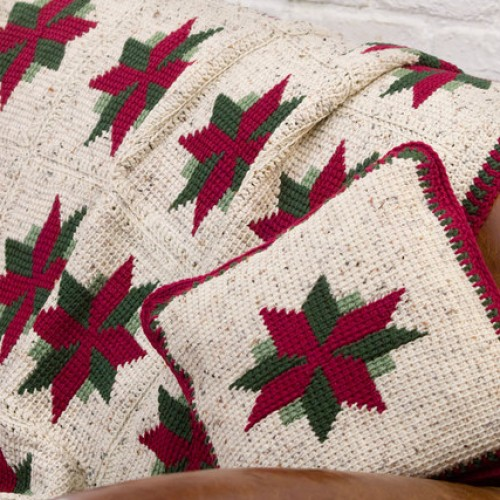 Christmas Star Throw and Pillow - Free Pattern