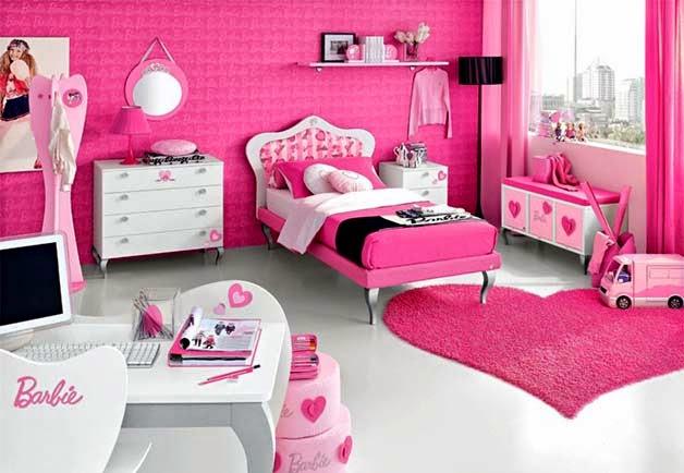 Habitaciones para niñas en color rosa 1